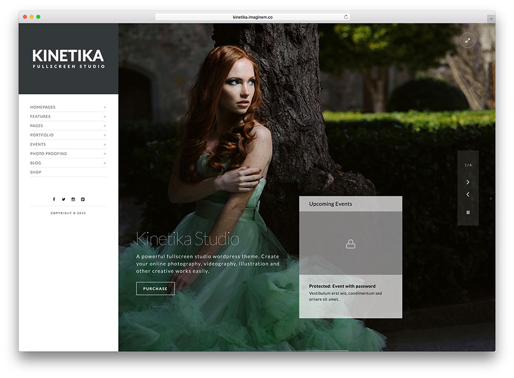 kinetika-vertical-navugation-wordpress-theme
