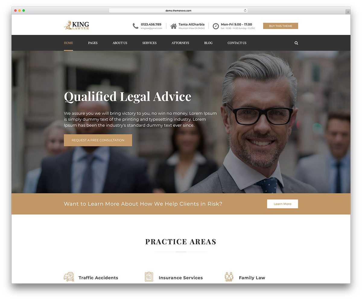 20+ Best Lawyer WordPress Themes For Law Firms and Attorneys 2018 ...