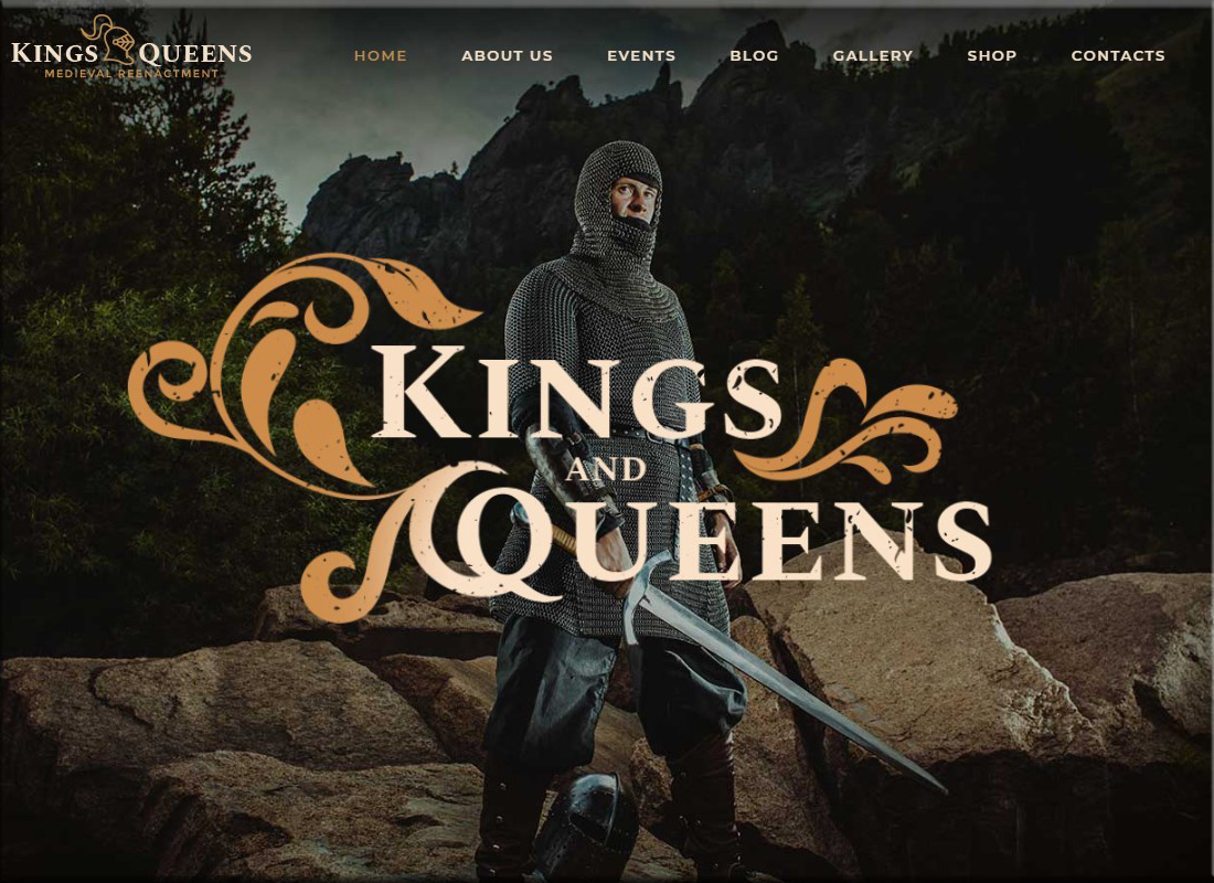 kings-queens-medieval-reenactment-wp-theme