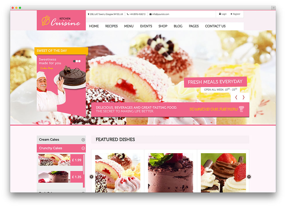 kitchen cuisine multipurpose theme