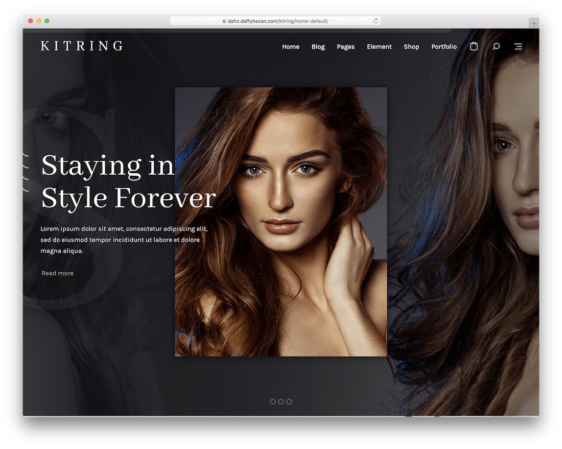 kitring hair salon wordpress theme