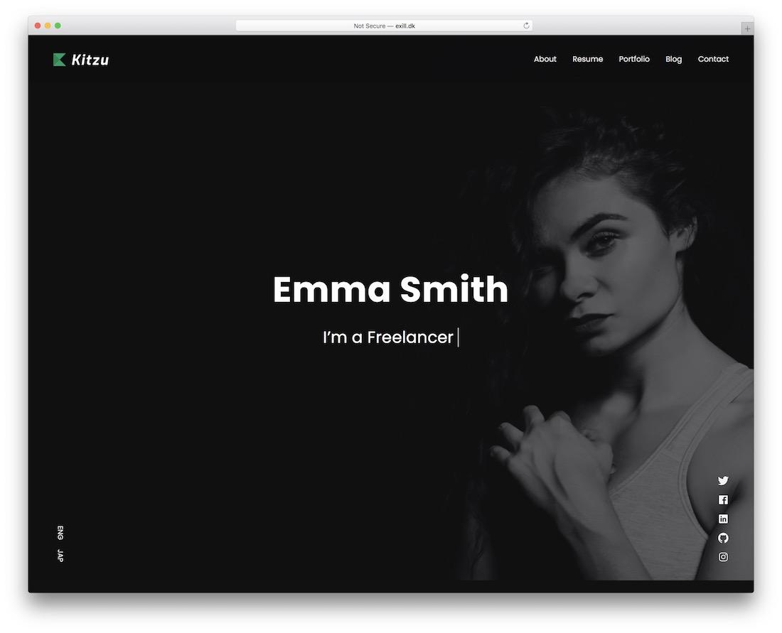 kitzu actor website template