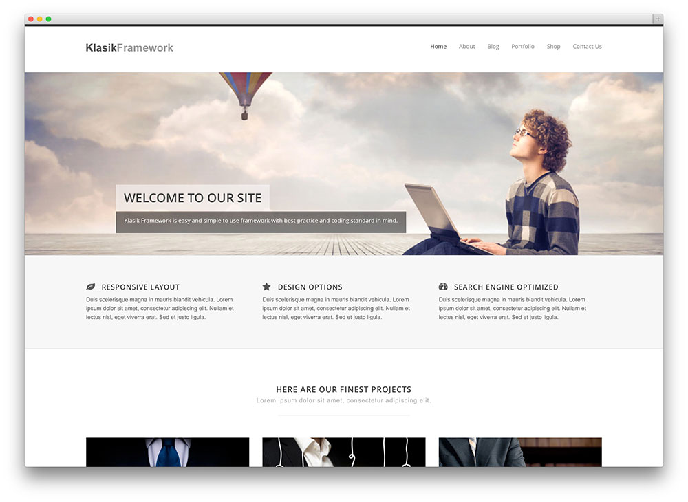 klassik framework - advanced business theme