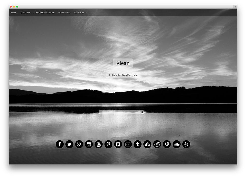 klean - stunning fullscreen theme