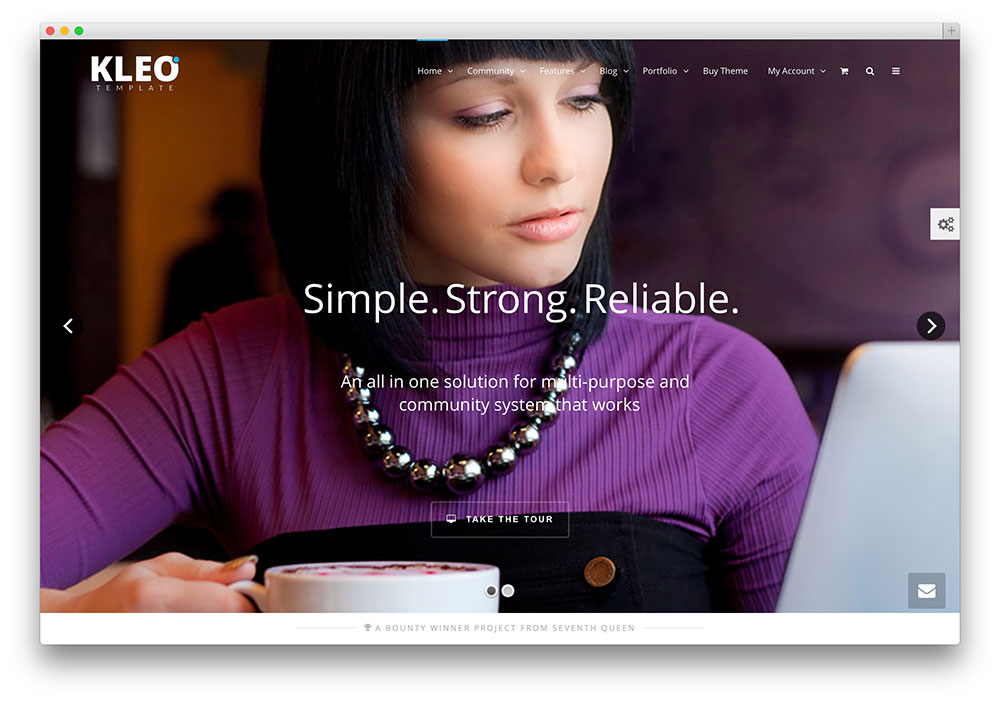 kleo popular buddypress theme