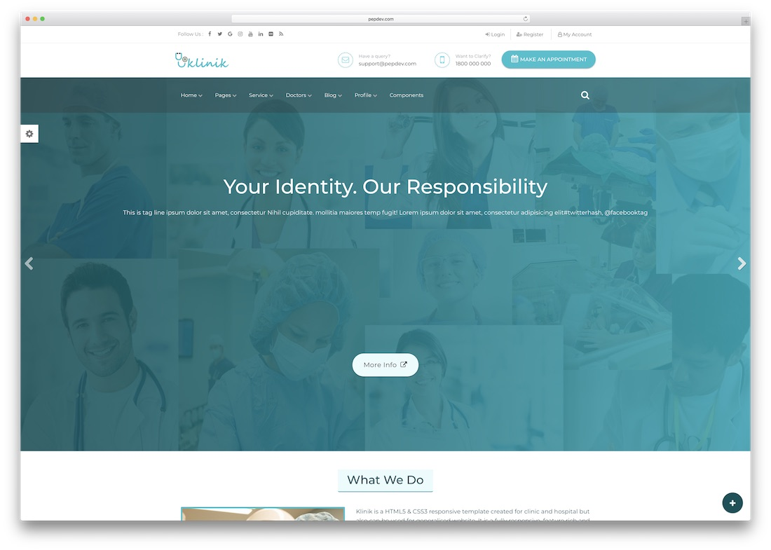 klinik medical website template
