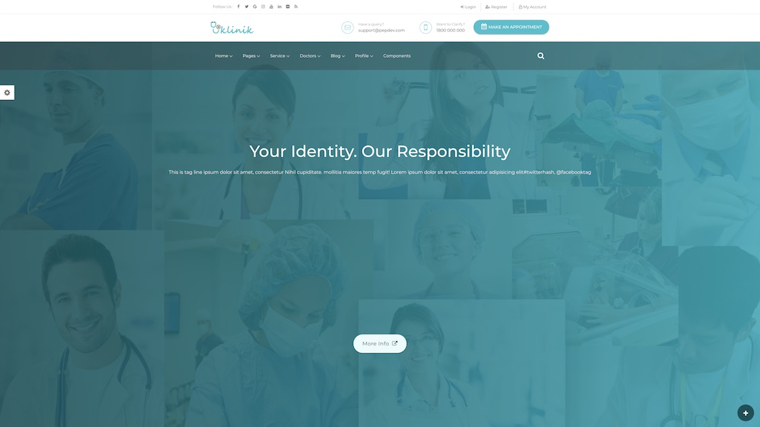 klinik website template