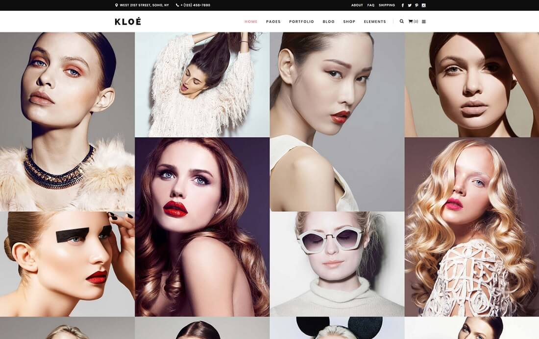 kloe wordpress instagram theme