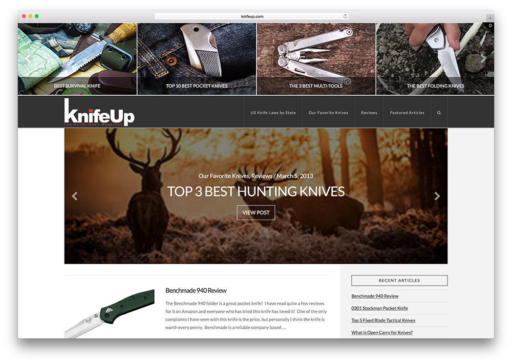 knifeup-affiliate-product-review-site-example