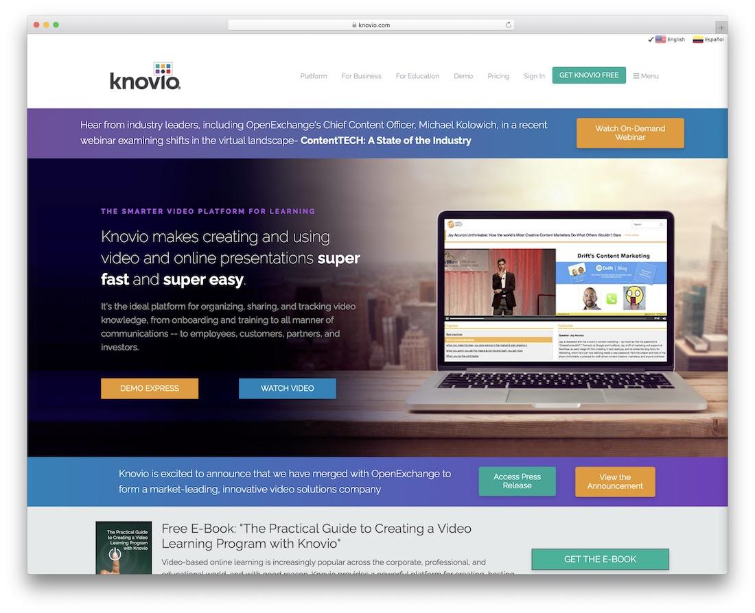 knovio tool for creating presentations