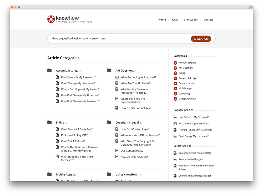 knowhow fresh knowledge base template