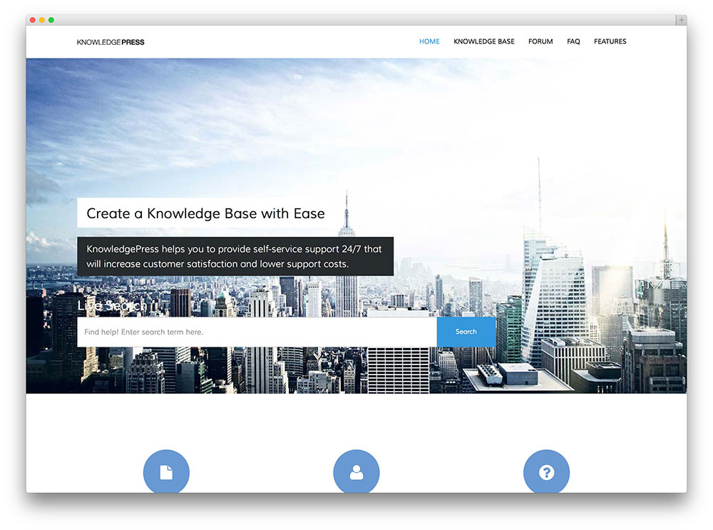knowledge base faq wordpress theme