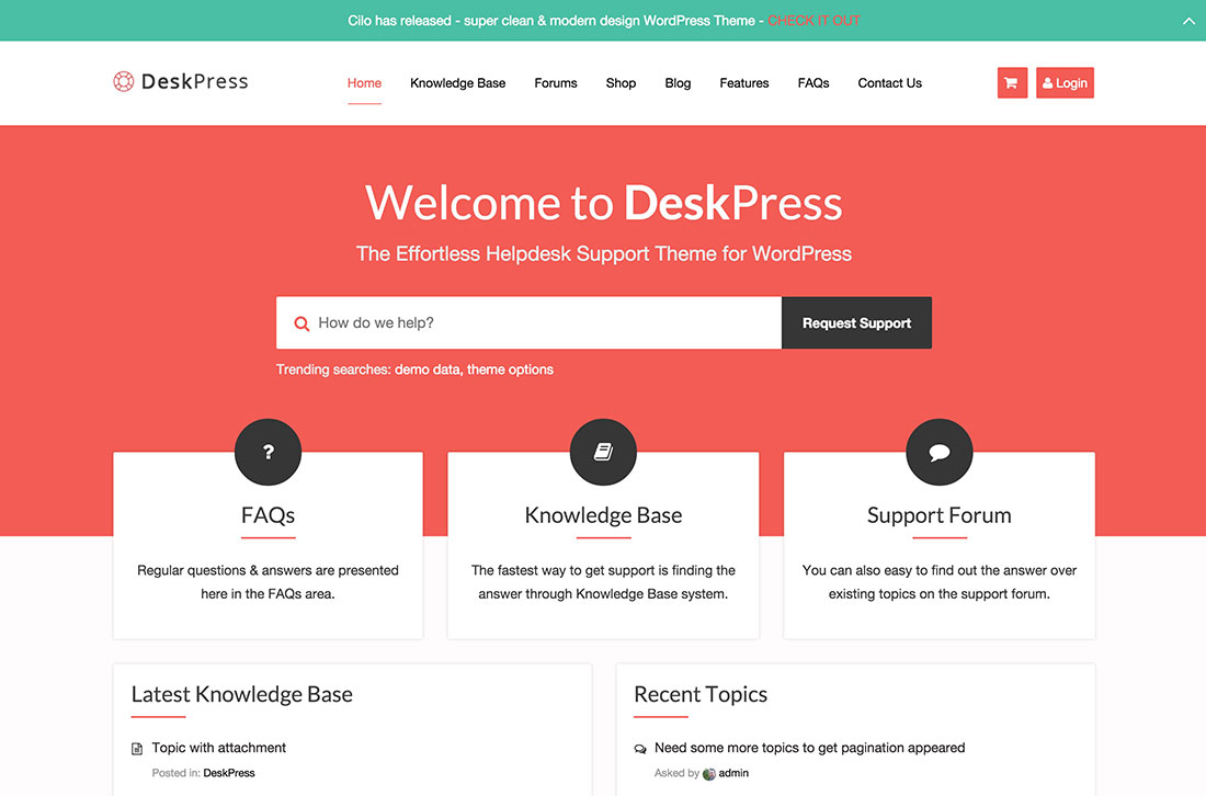 10 Best Knowledge Base Wiki Faq Support Ticket Wordpress Themes