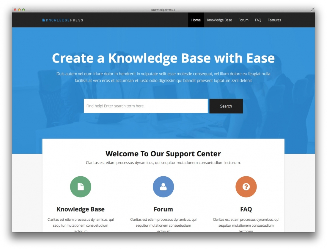 10+ Best Knowledge Base, Wiki, FAQ & Support Ticket WordPress Themes – 2014