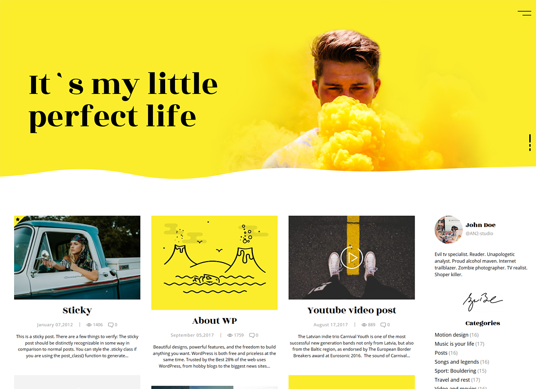 Koalogger | Simple Blog WordPress Theme + RTL