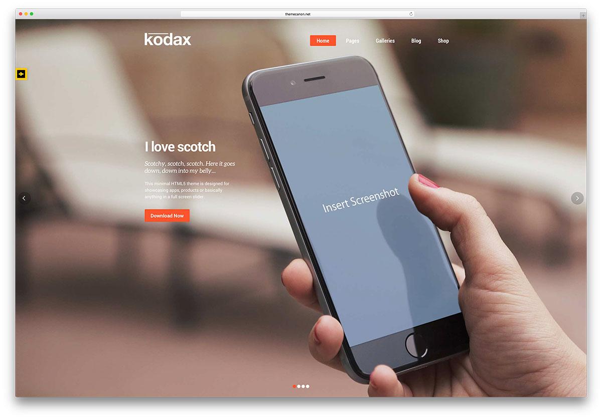 kodax-fullscreen-app-landing-page-theme