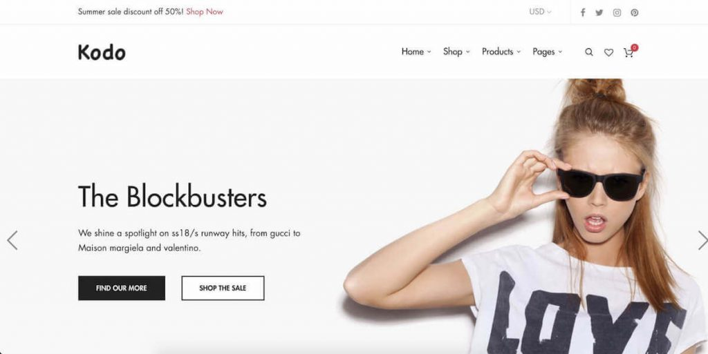 90e160d62fd Kodo is one of of those fashion ecommerce themes that stand out in the  first look. Not only WordPress