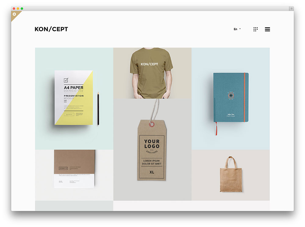 koncept creative designer portfolio theme - Sample Industrial Design Er