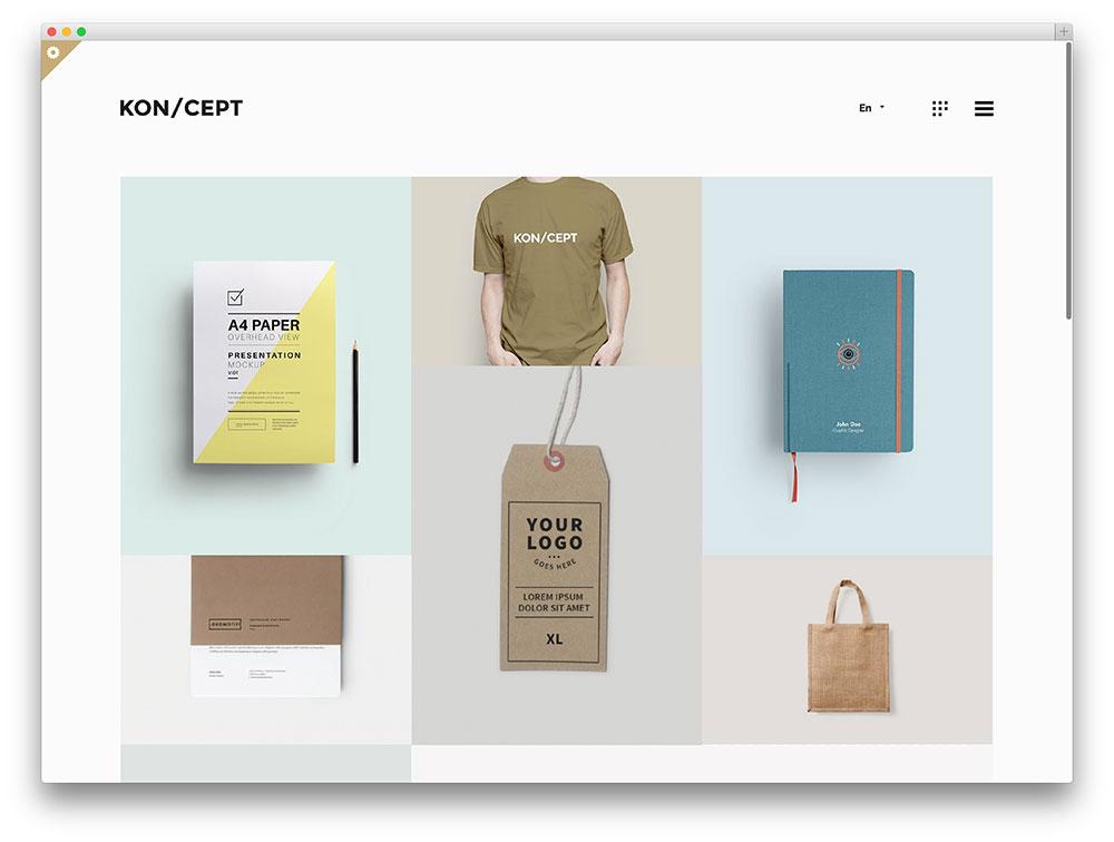 koncept creative portfolio theme