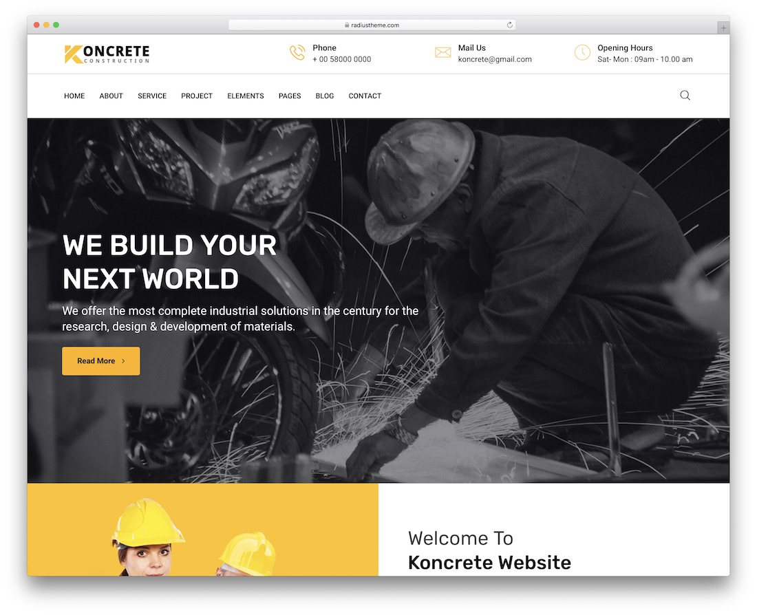 koncrete wordpress theme