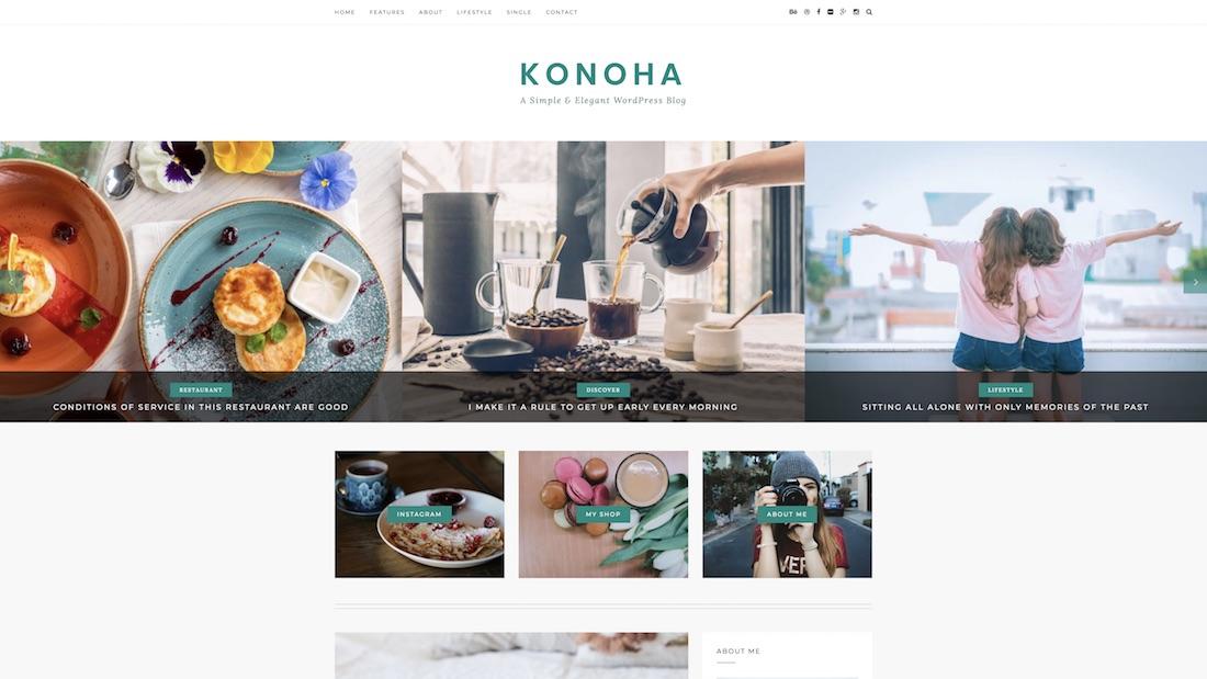 konoha writer website template