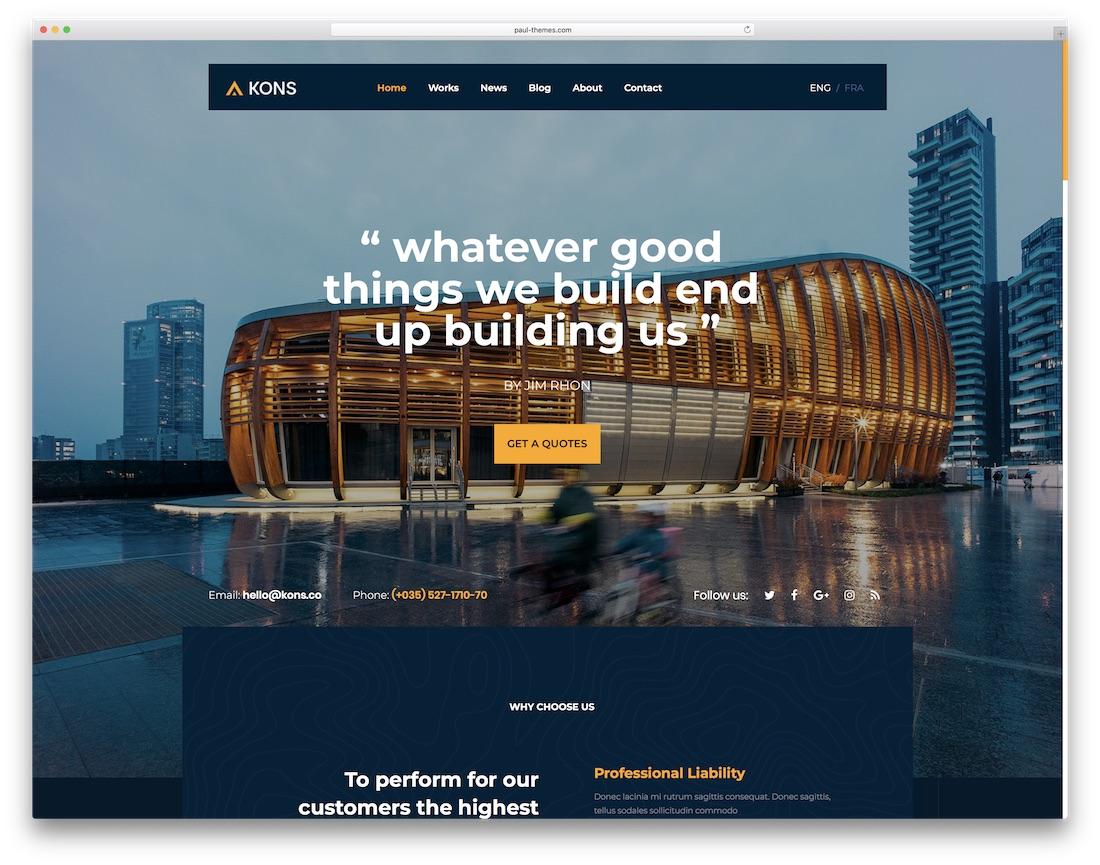kons html construction company template