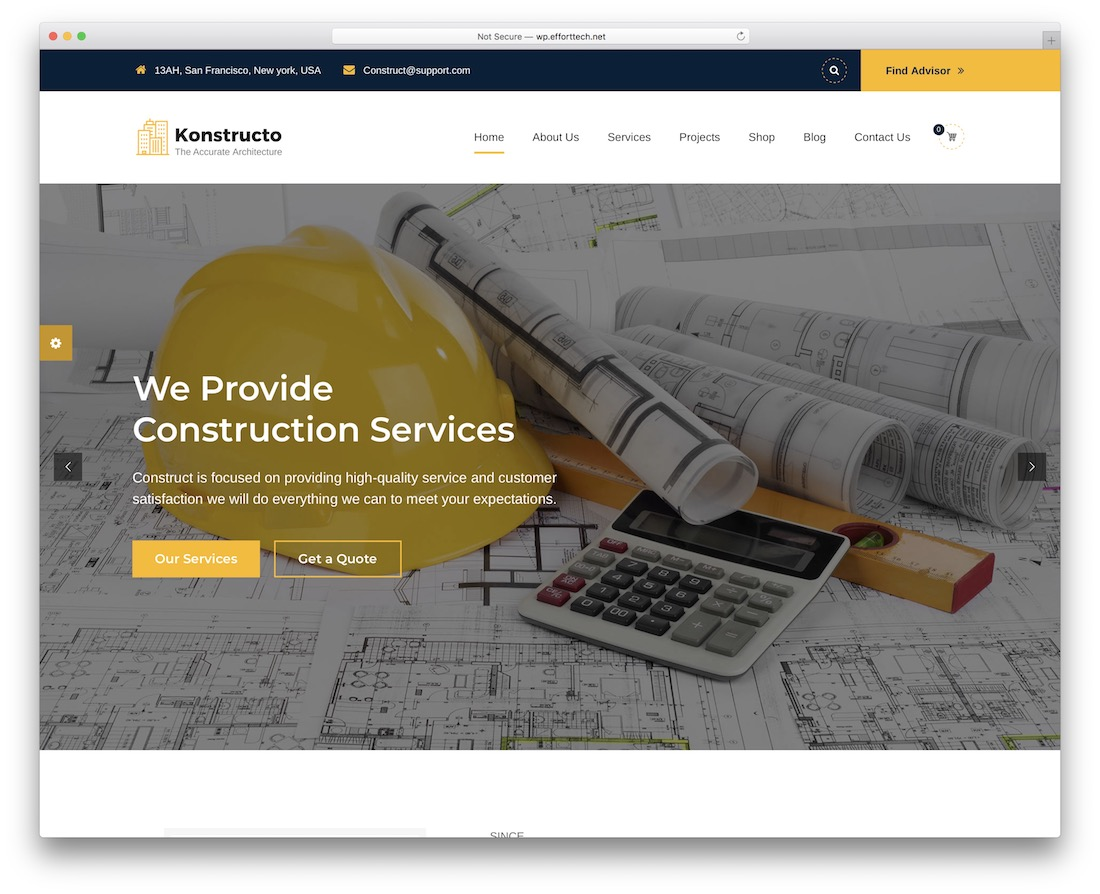 konstructo wordpress theme for architects