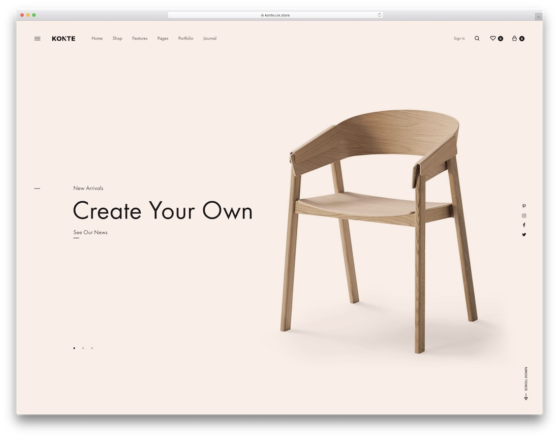 konte furniture wordpress theme