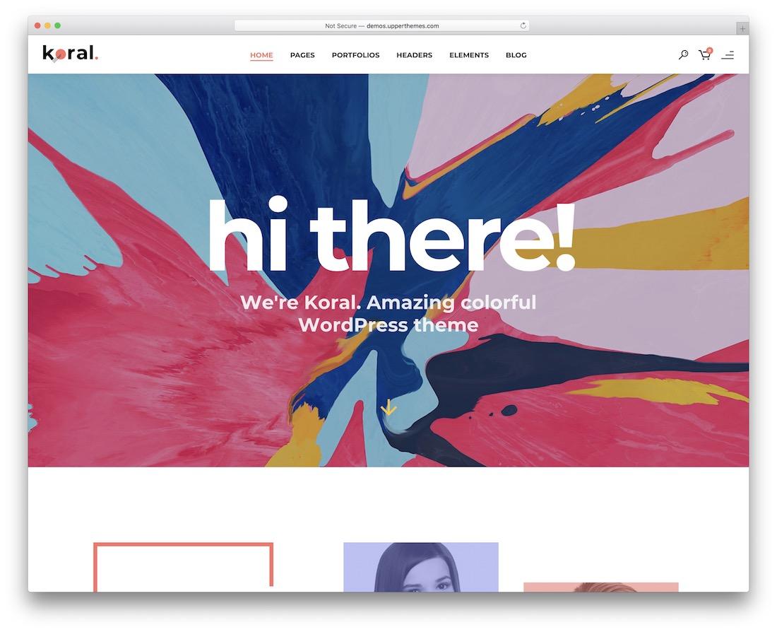 koral beautiful website template