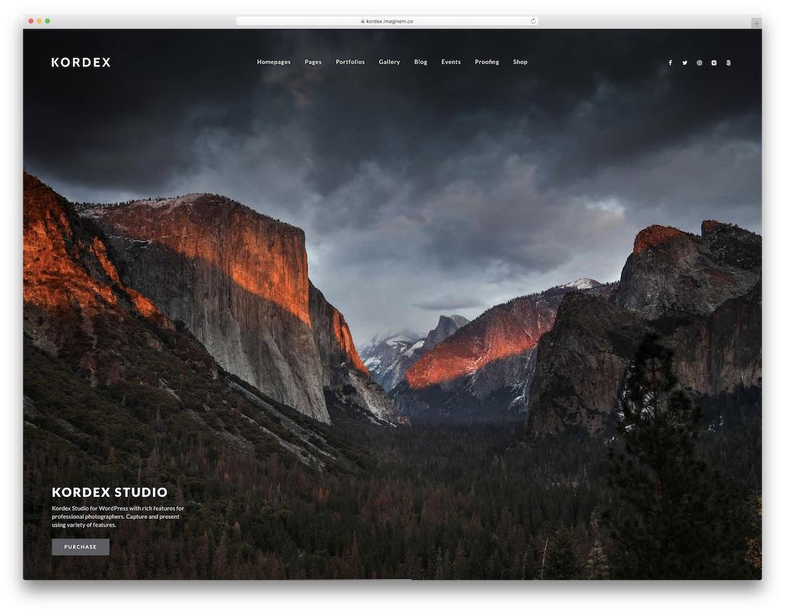 kordex full screen wordpress theme