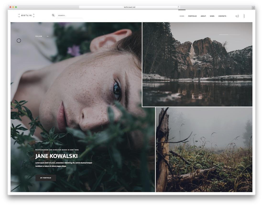 kotlis freelancer website template
