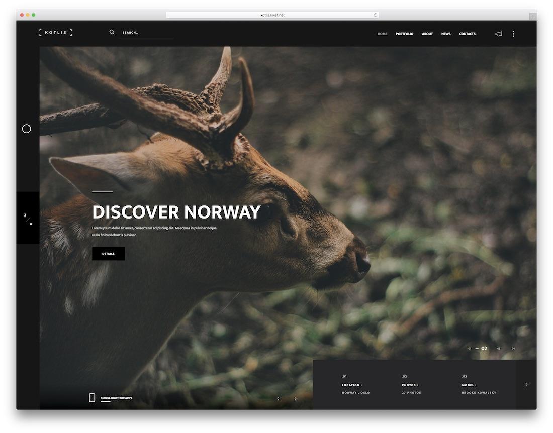 kotlis photography website template