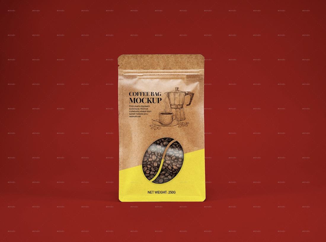 kraft bag packaging mockup