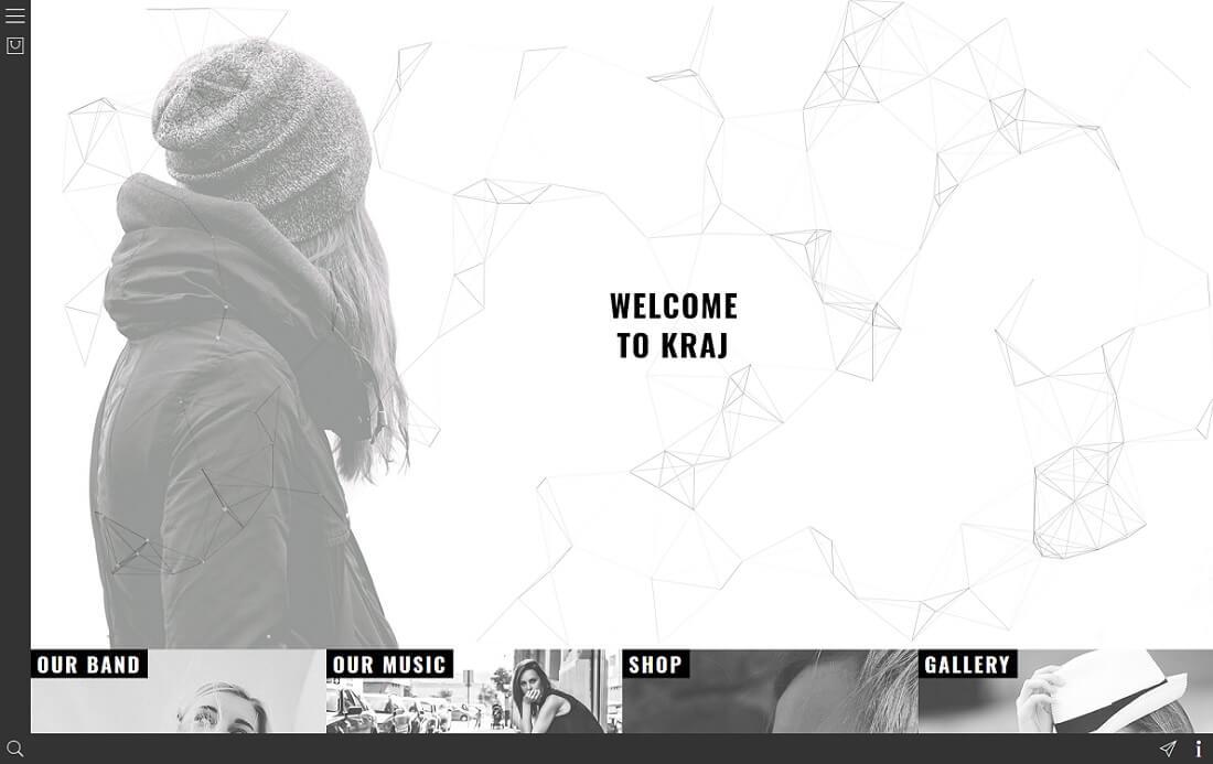 kraj musician website template