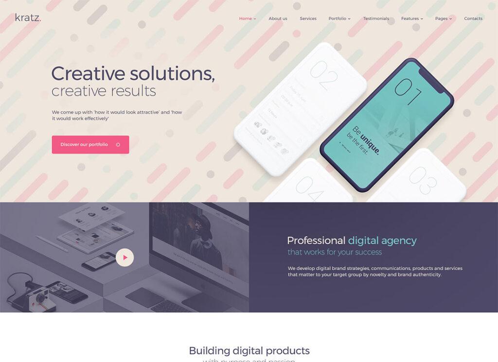Kratz   Digital Agency Marketing and SEO WordPress Theme