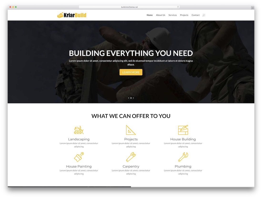 kriar build divi child theme