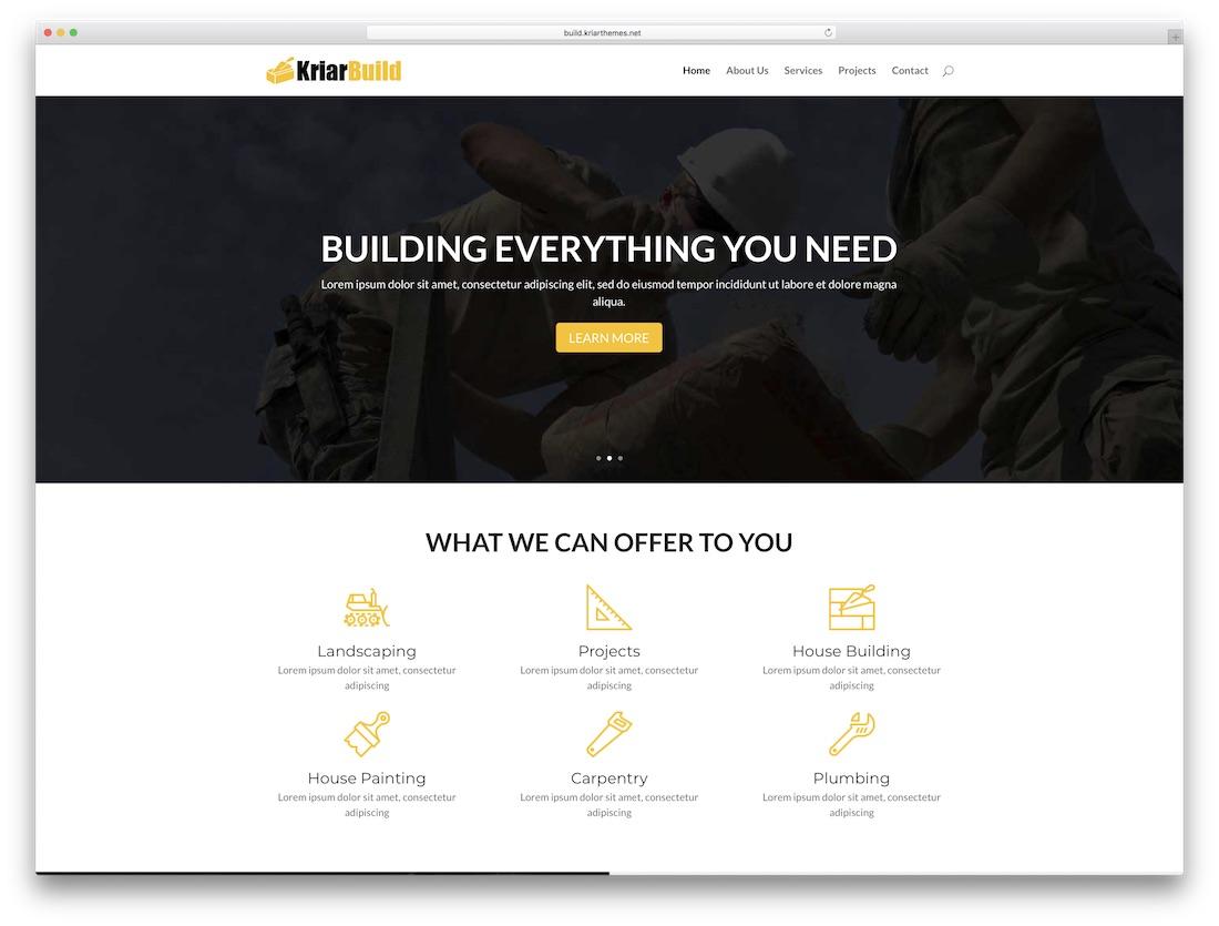 kriar build divi child theme