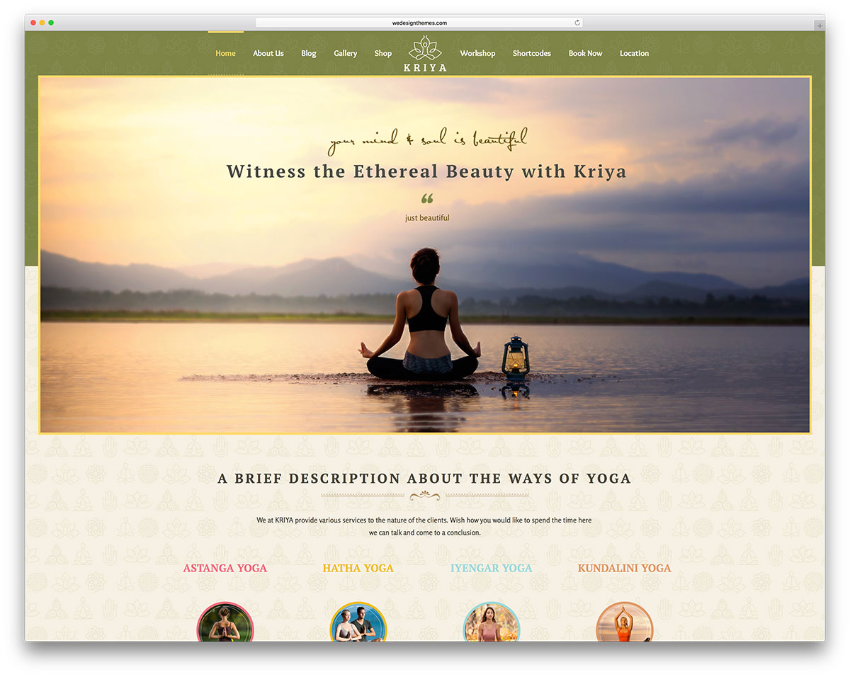 Amazing Yoga Website Template Picture Collection - Professional ...