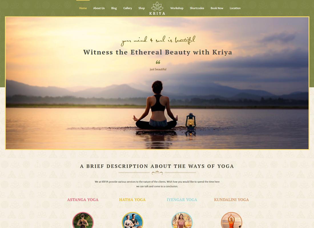 Kriya Yoga | Health & Yoga WordPress Theme