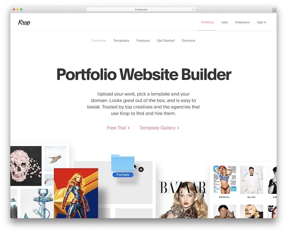 krop build portfolio website