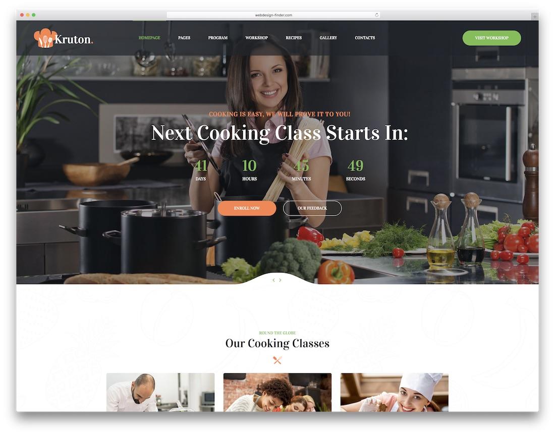kruton food website template