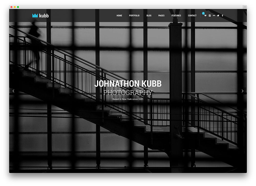 Kubb Cool Fullcreen Photography Theme
