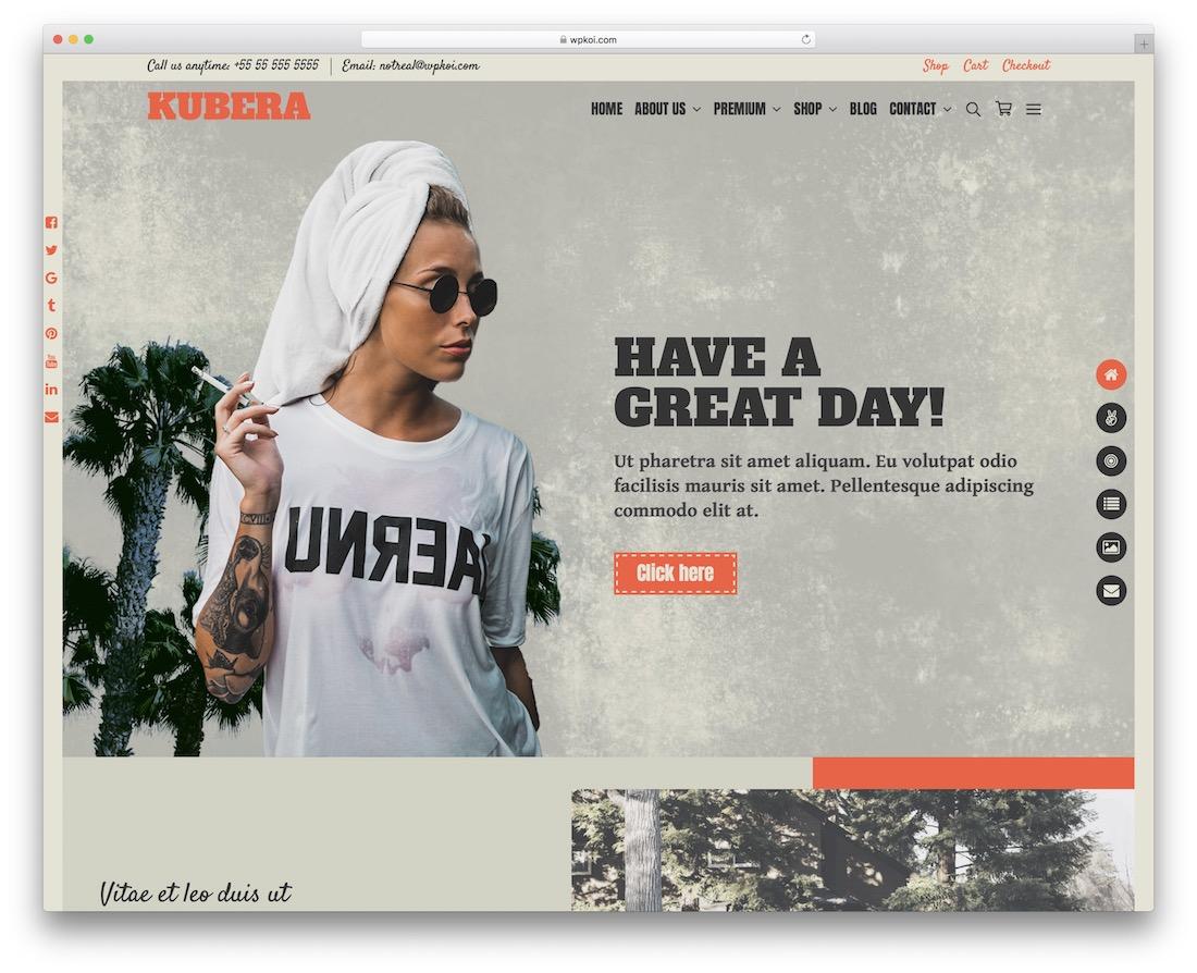 kubera free wordpress theme