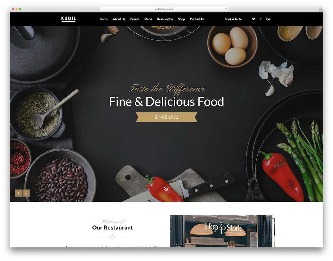 kudil catering wordpress theme