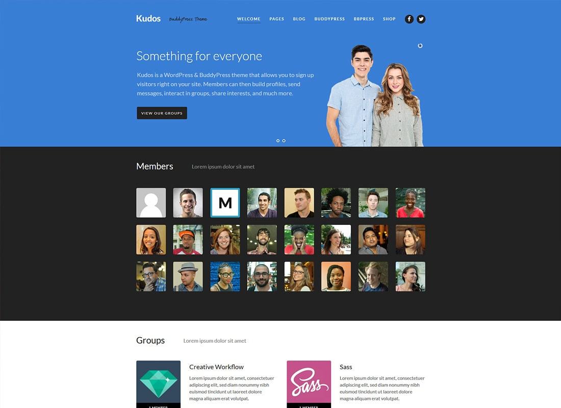Kudos | WordPress BuddyPress Theme