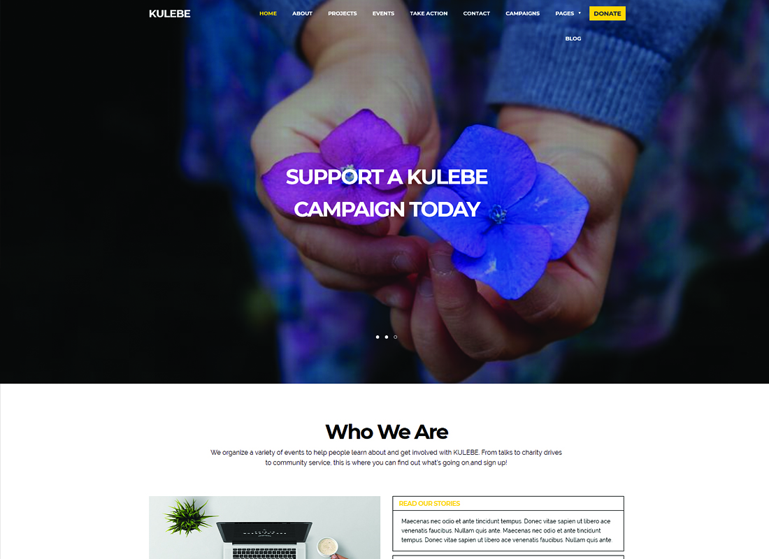 Kulebe | Multipurpose Crowdfunding Nonprofit WordPress Theme