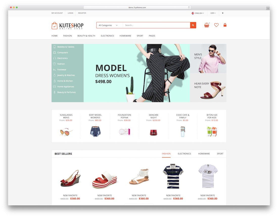 kuteshop fashion website template