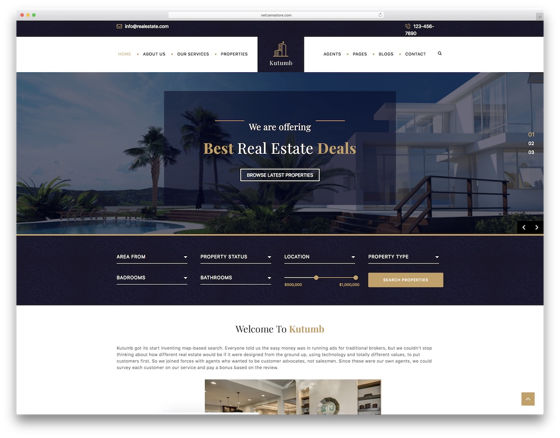 kutumb html5 real estate website template