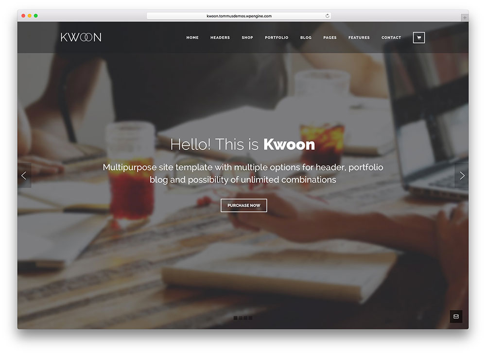 kwoon - material design business theme