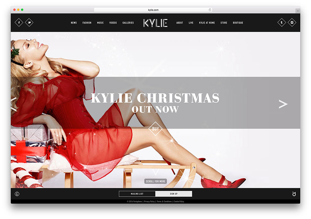 kylie-famous-solo-singer-site-using-wordpress